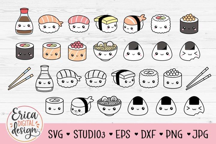 Cute Sushi SVG cut file Bundle sushi Nigiri Onigiri Maki