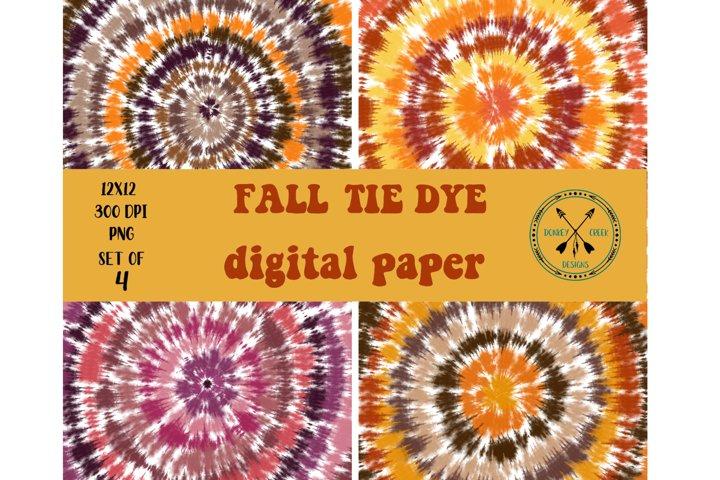 Fall Tie Dye Digital Paper Pack