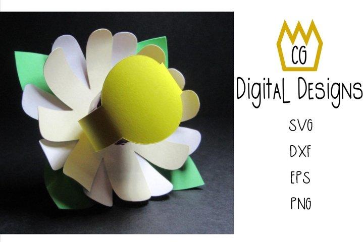 3D Lollipop Daisy - Valentine Birthday Teacher - SVG DXF EPS