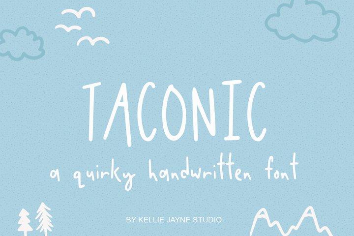 Taconic Handwritten Font