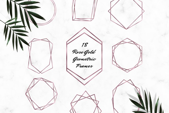 Rose Gold Geometric Frames