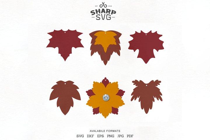 Autumn Leaves Earrings SVG - Leaf Earrings Cutting Template