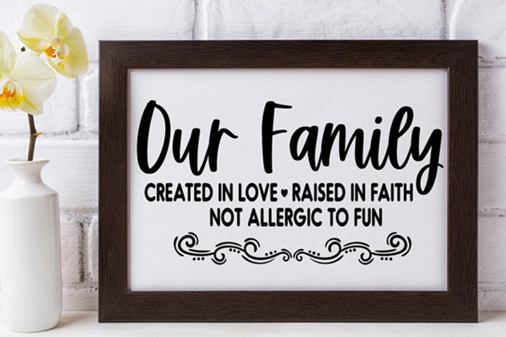 Our Family Cut File - SVG DXF EPS PNG example 1