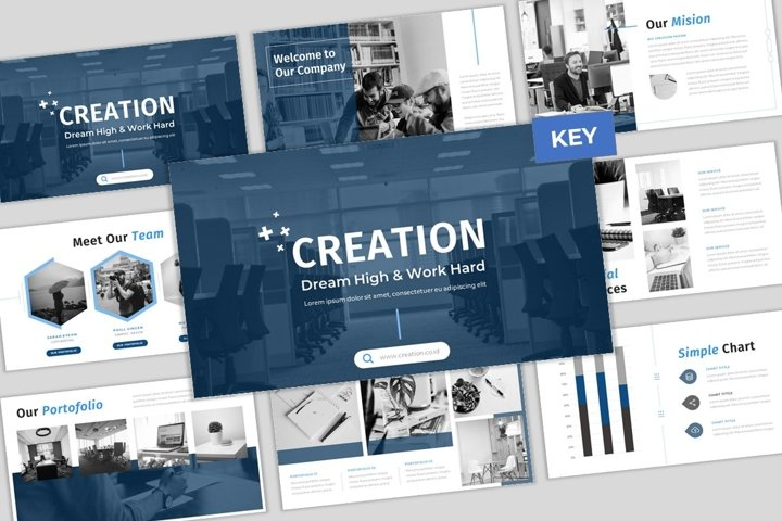 Creation - Creative & Elegant Business Keynote Template