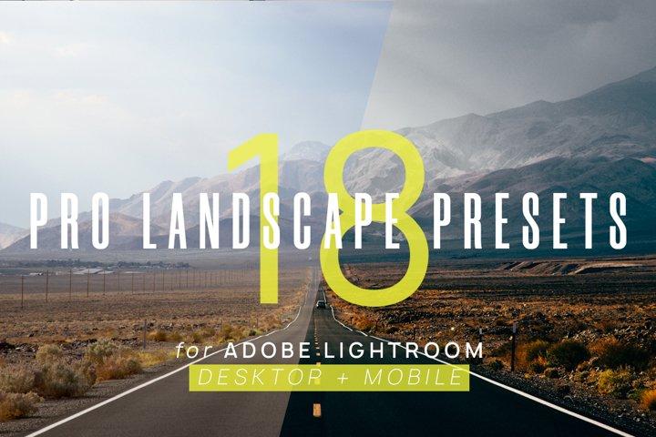 18 Pro Landscape Presets for Lightroom & Lightroom Mobile