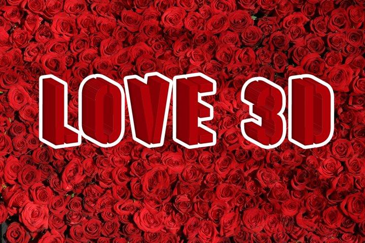 Love Stencil 3D