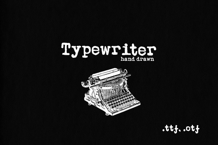 Typewriter. Handwritten font