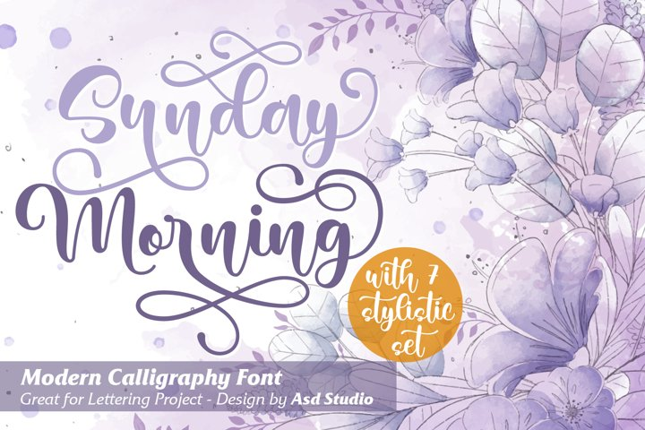 Sunday Morning- Modern Calligraphy