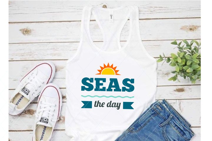 Seas the day svg, summer svg, beach svg, beach mode svg