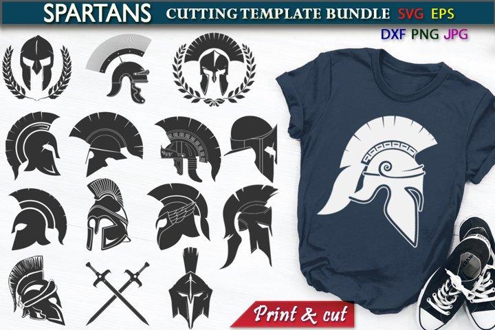 Spartan Roman Warrior Cutting SVG Template Bundle