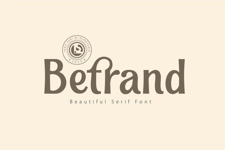 BETRAND - Serif Font