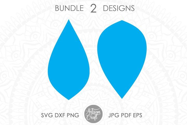Earrings SVG, Teardrop earrings SVG, leather earring SVG