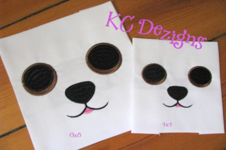 Dog Eyes and Nose Embroidery Design