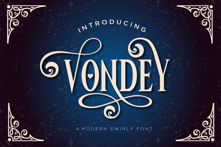 Vondey - Holiday font & ornaments