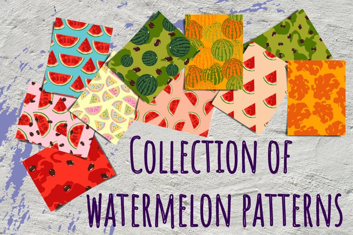 Collection of watermelon patterns