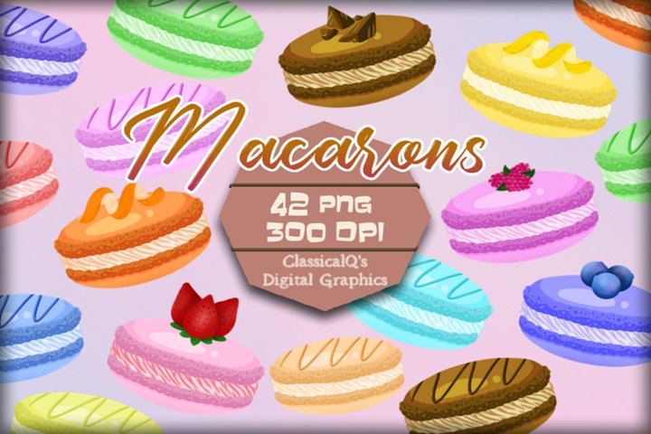 French Macarons Clip Art
