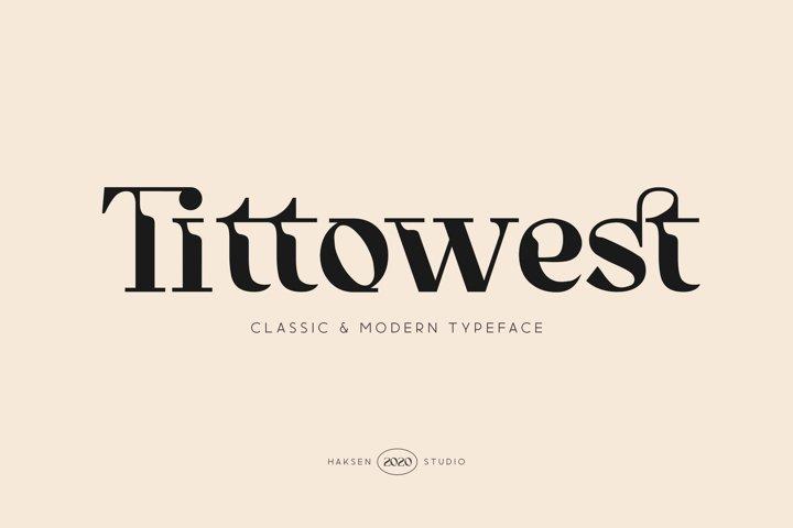 Tittowest Futuristic Serif Display