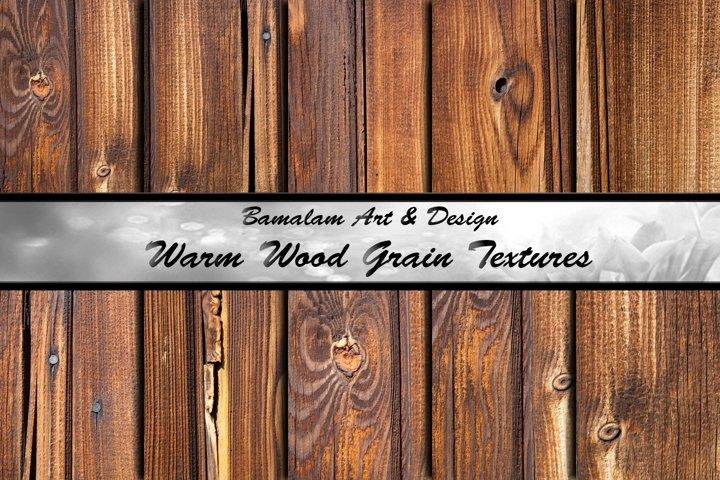 Warm Wood Grain Textures
