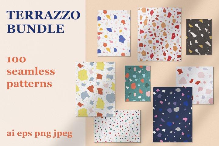 100 Terrazzo seamless pattern Bundle