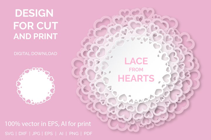 Lace from hearts