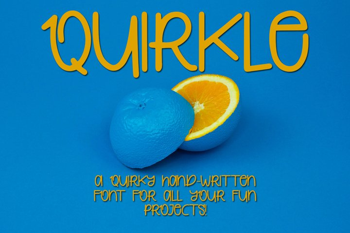 Quirkle - A Hand-Written Quirky Font example