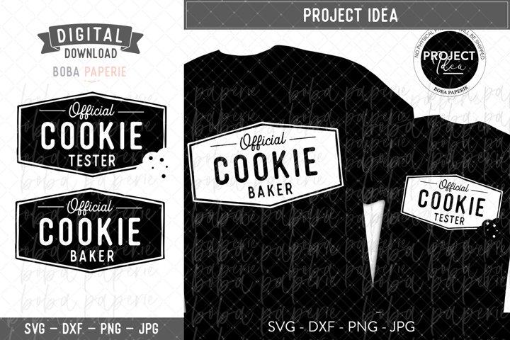 Official Cookie Baker & Official Cookie Tester SVG Bundle