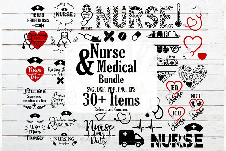 Nurse and Medical bundle, Nurse quotes SVG,PNG,DXF,EPS,PDF