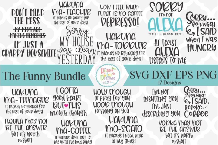 Funny and Witty SVG Bundle Cutting File