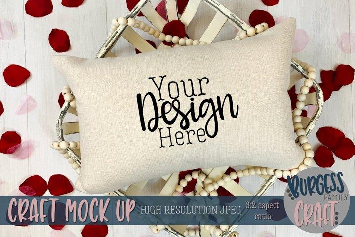 Valentine 12x18 pillow Craft mock up