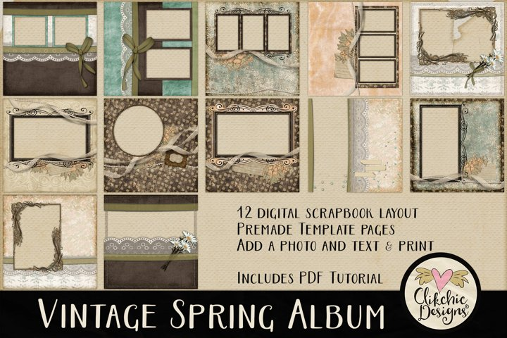 Digital Scrapbooking Quick Page Album - Layout Templates