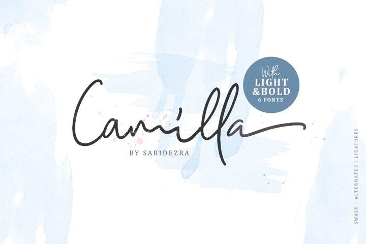 Camilla - Signature Script 6 Fonts