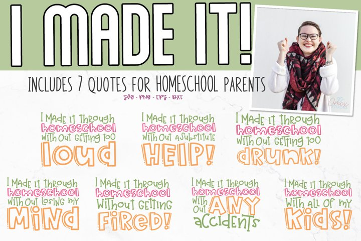 Homeschool SVG| Funny Homeschool Craft File
