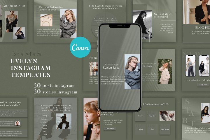40 Instagram templates | CANVA Instagram Canva Templates