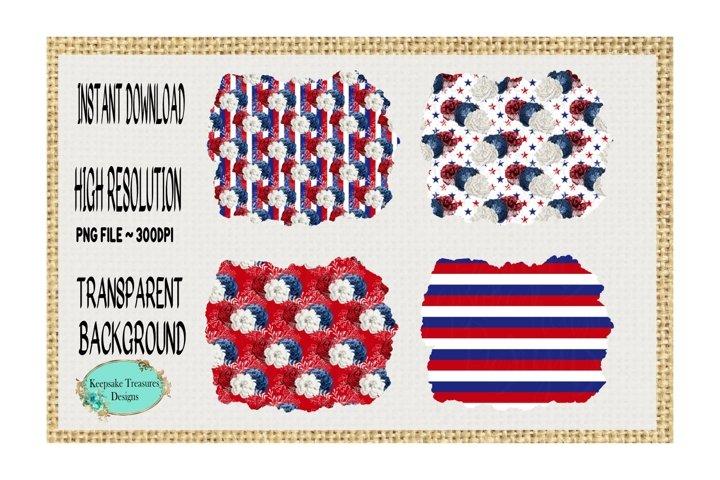 Patriotic Background Frames