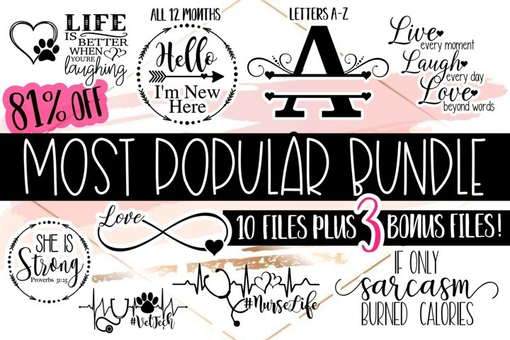 Most Popular Bundle| Bundle SVG | SVG Files