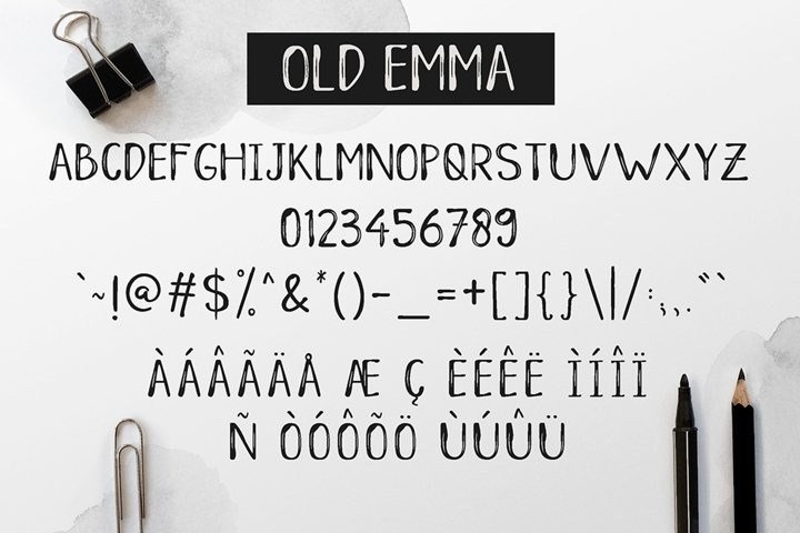 Old Emma - Free Font of The Week Design3