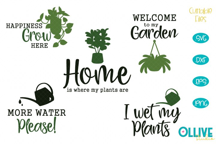 Plants SVG Bundle, Plant - Garden Quotes