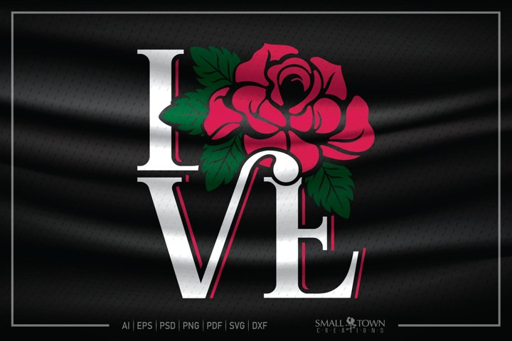 LOVE, Rose, Love tattoo, Rose SVG, LOVE SVG
