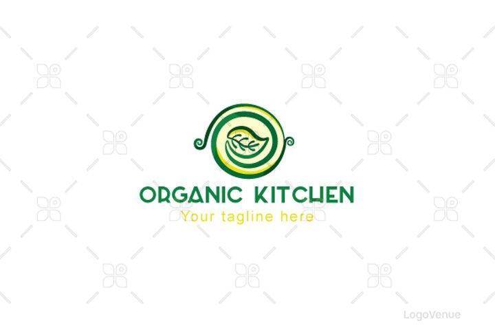 Organic Kitchen - Vegetarian Food Stock Logo Template
