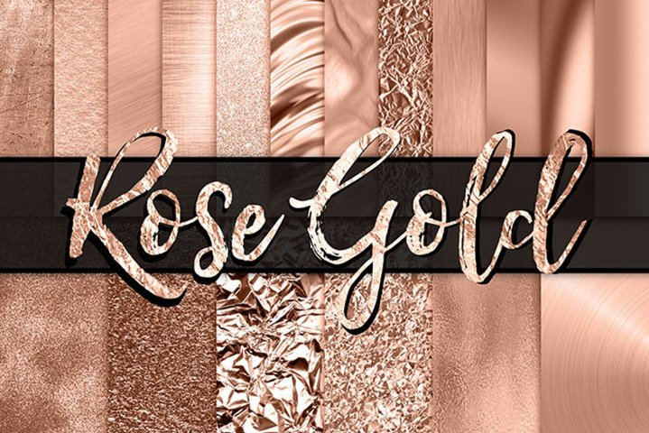 Rose Gold Digital Paper - rose gold background / texture