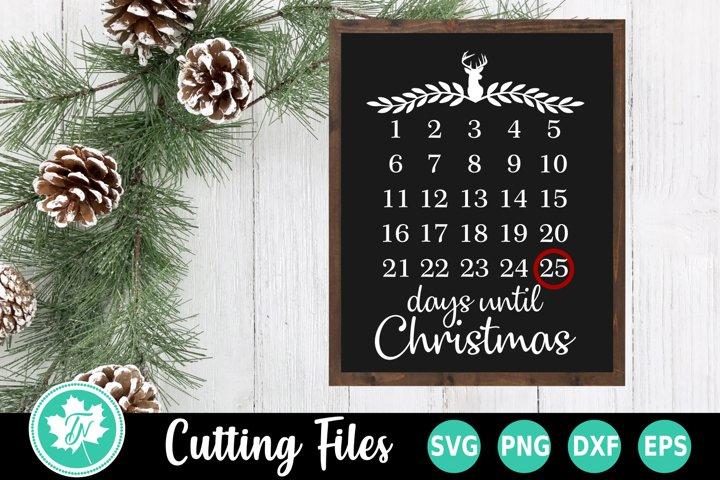 Christmas SVG | Christmas Countdown SVG | Days Until SVG