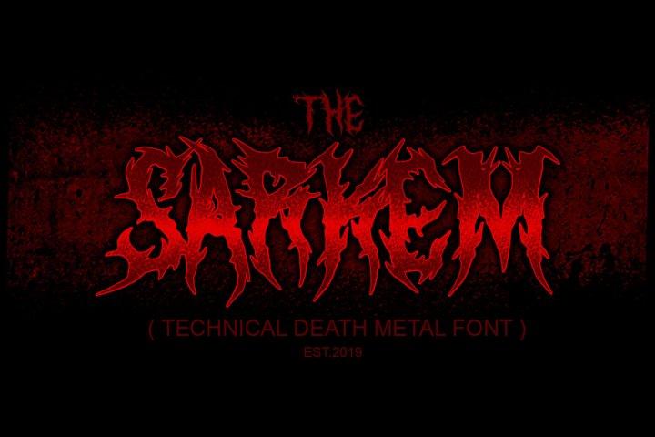 SARKEM TECHNICAL DEATH METAL FONT