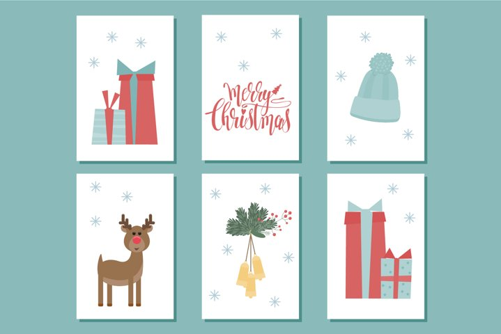 Christmas Gift Tag Clipart. Winter Holiday Sale Tag