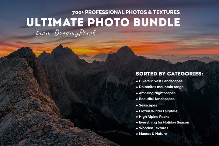 Ultimate Photo Bundle 2016 from DreamyPixel – 700+ Images