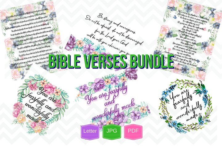Christian printable wall art bundle digital file PDF, JPG