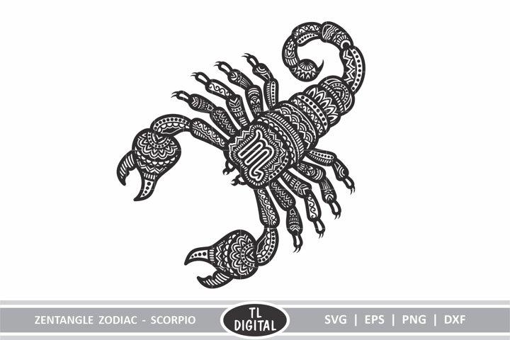 Zodiac Zentangle - Scorpio / Scorpion - SVG | EPS | PNG |DXF