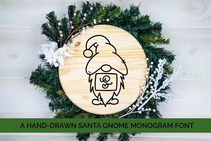 Santa Gnome Monogram - A Hand-Drawn Monogram Font