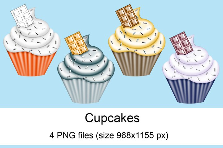 Cupcakes scrapbooking elements