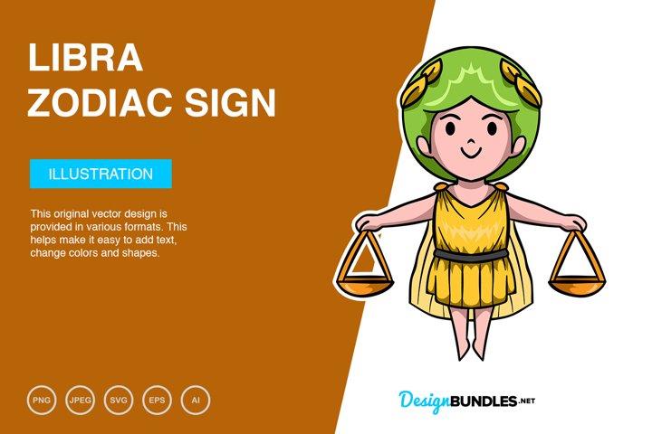 Libra Zodiac Sign Vector Illustration