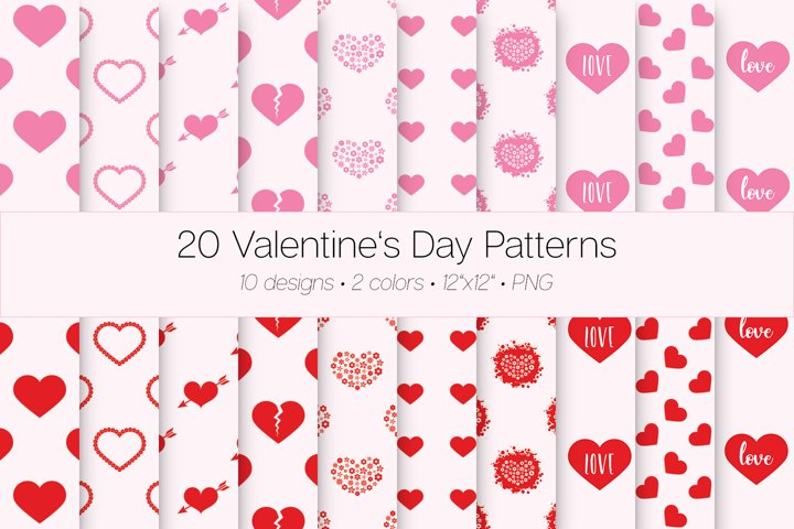 20 Valentines Day Patterns
